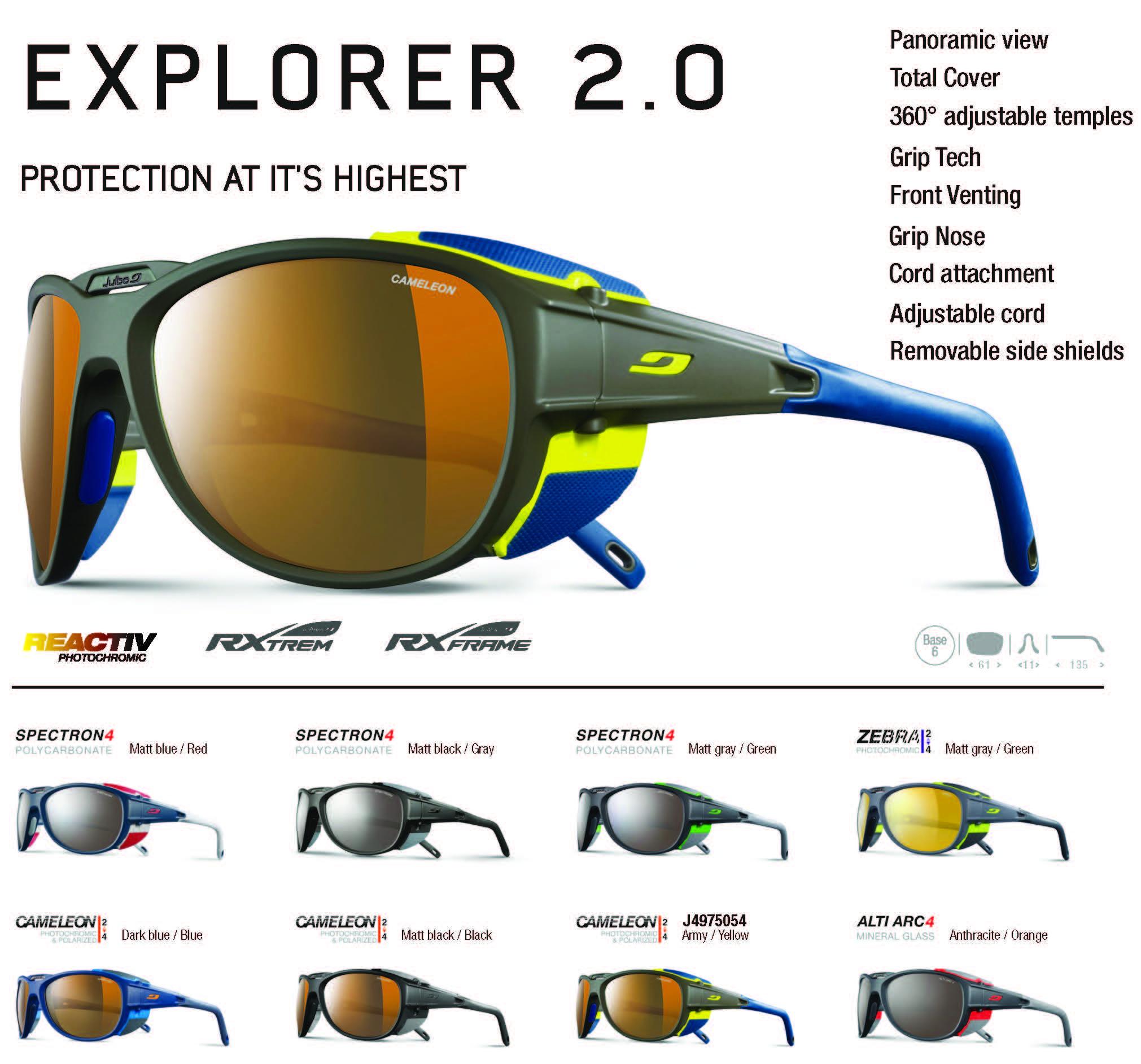 7620e3fc5d7 Julbo Explorer 2.0 Glacier Sunglasses Julbo Explorer 2.0 Glacier Sunglasses