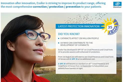 dcb9a6d37b5 Enhanced UV protection with E-SPF 35 from Essilor - Lenstec